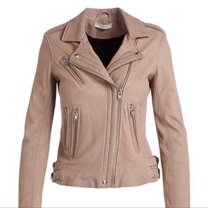 IRO Han Dusty Rose Leather Jacket